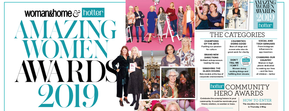 Hotter Shoes announced as launch partner for woman&home's Amazing Women Awards 2019